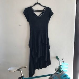 Free People Distressed High-Low Dress